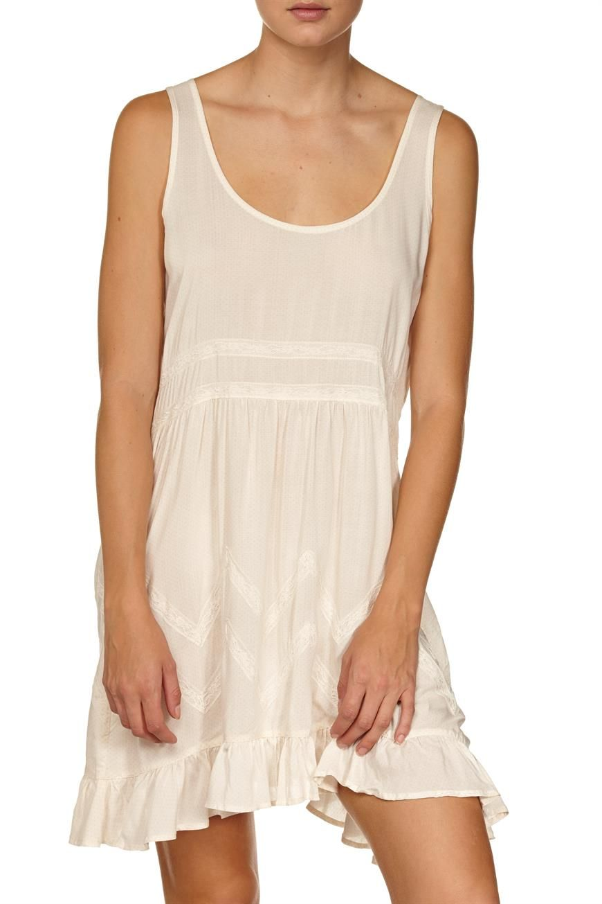 india hanky hem s/l dress WHIPPED CREAM