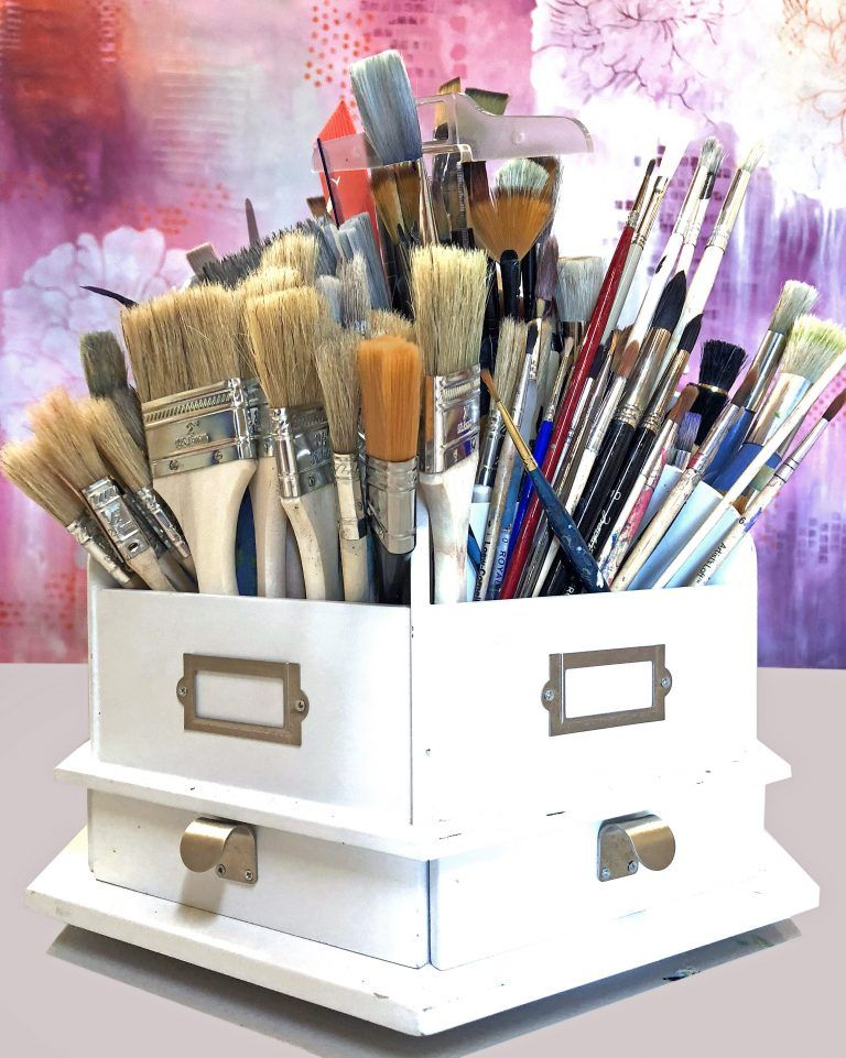 7 ways to store organize paintbrushes pencilspens and