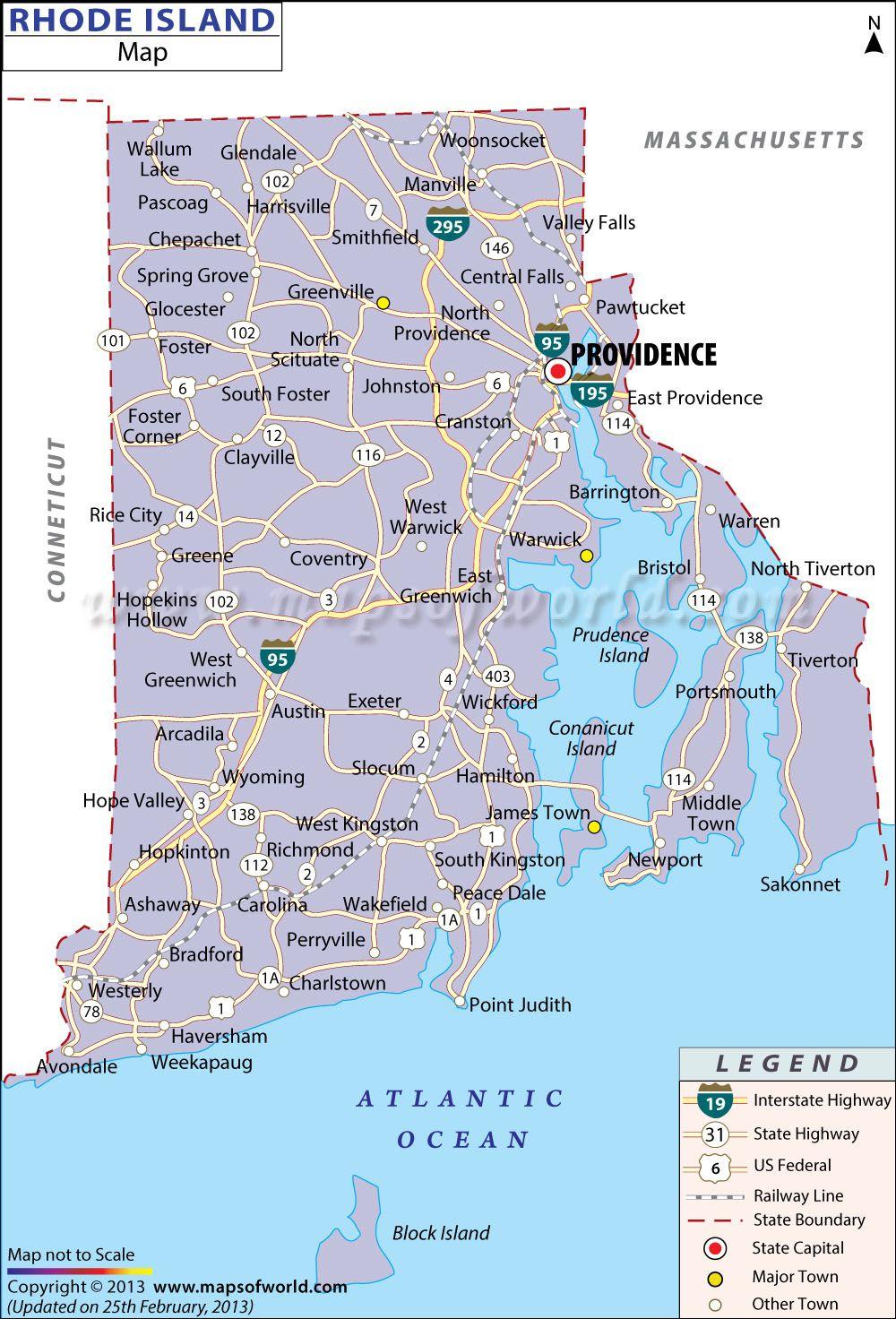 Ri Map Apostle Islands Map Map Of Sc - Rhode island city map