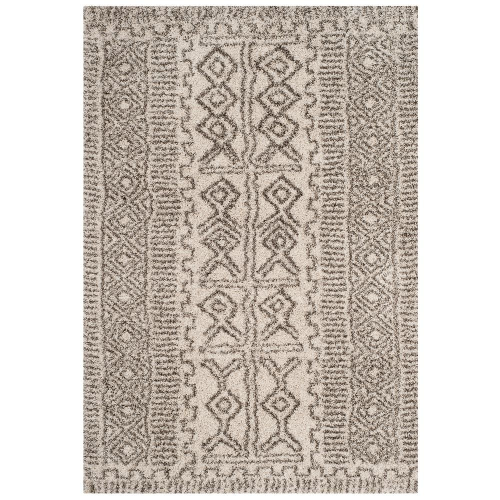 Safavieh Hudson Shag Ivory Gray 5 Ft 1 In X 7 Ft 6 In Area Rug Products Rugs Colorful Rugs Area Rugs