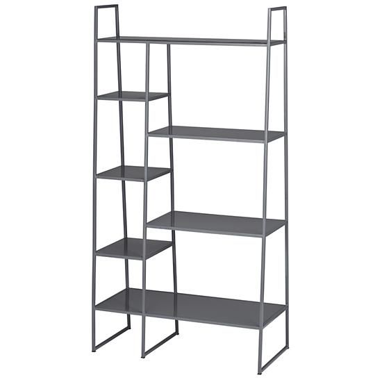 high rise bookshelf grey in bookcases caddies the land of nod products i love. Black Bedroom Furniture Sets. Home Design Ideas