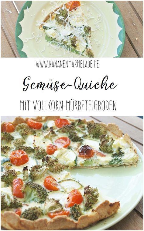 Mein Rezept für eine Gemüse-Quiche mit Vollkorn-Mürbeteigboden. Serviert mit Parmesan eine leckere, gesunde, fettarme und proteinreiche Mahlzeit.