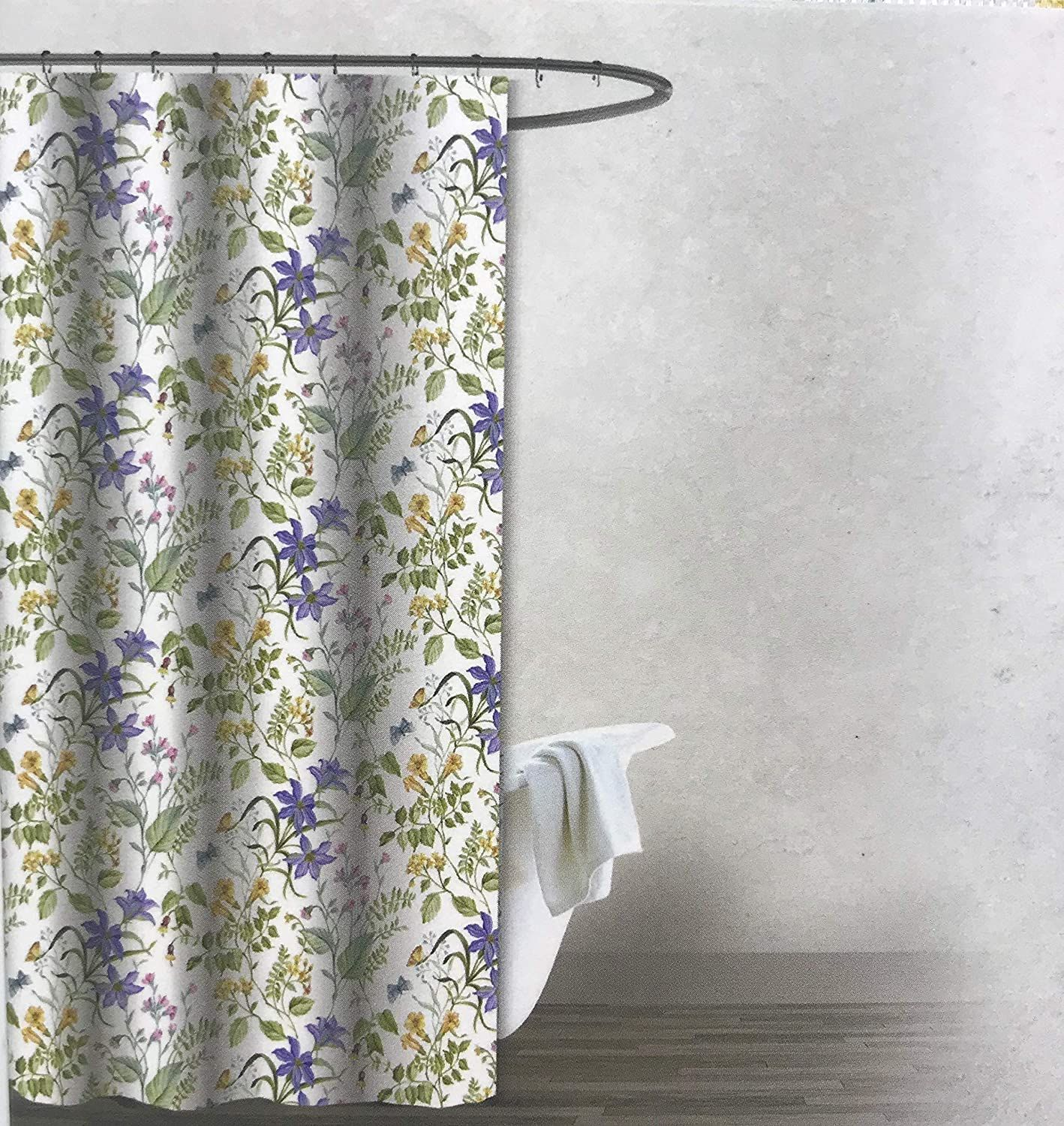 Pin On Floral Shower Curtain