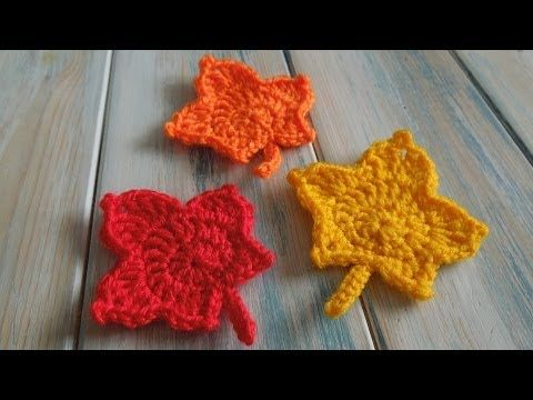 Hojas de Otoño a Crochet   Blätter, Häkelblumen und Applikationen häkeln