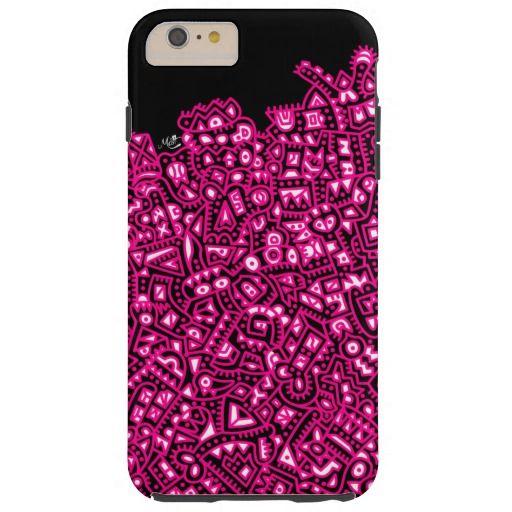Black, Pink. Tough iPhone 6 Plus Case