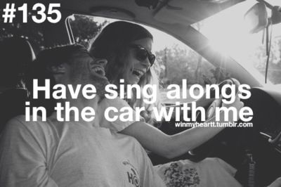 Lord  know I am always singing in a car, or where ever I am for that matter...Love it!!