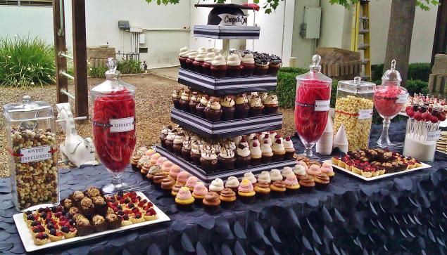 Graduation Display Table Cupcakes Cake Pops Birthday