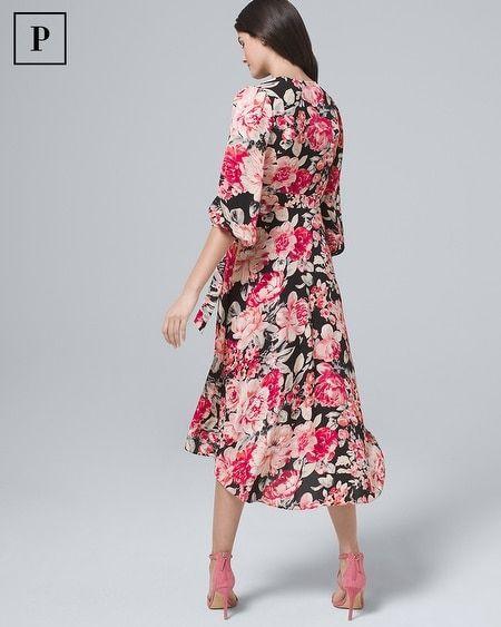 7b2df1491590 Women s Petite Convertible Floral Wrap Dress by White House Black Market