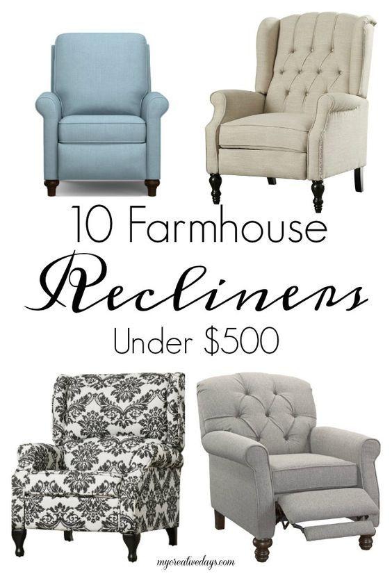 20 Farmhouse Recliner Chairs Under 600 Farmhouse Recliner