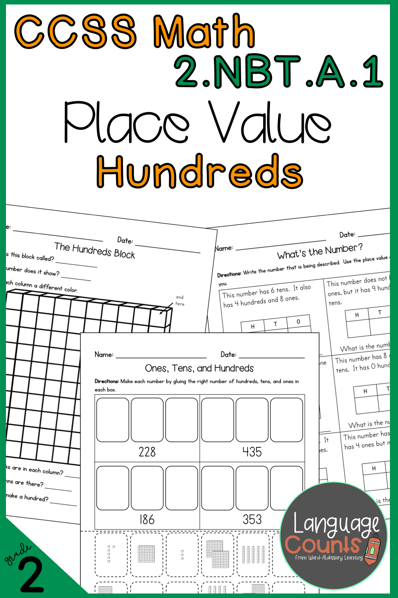 2nd Grade Place Value With Hundreds No Prep Practice