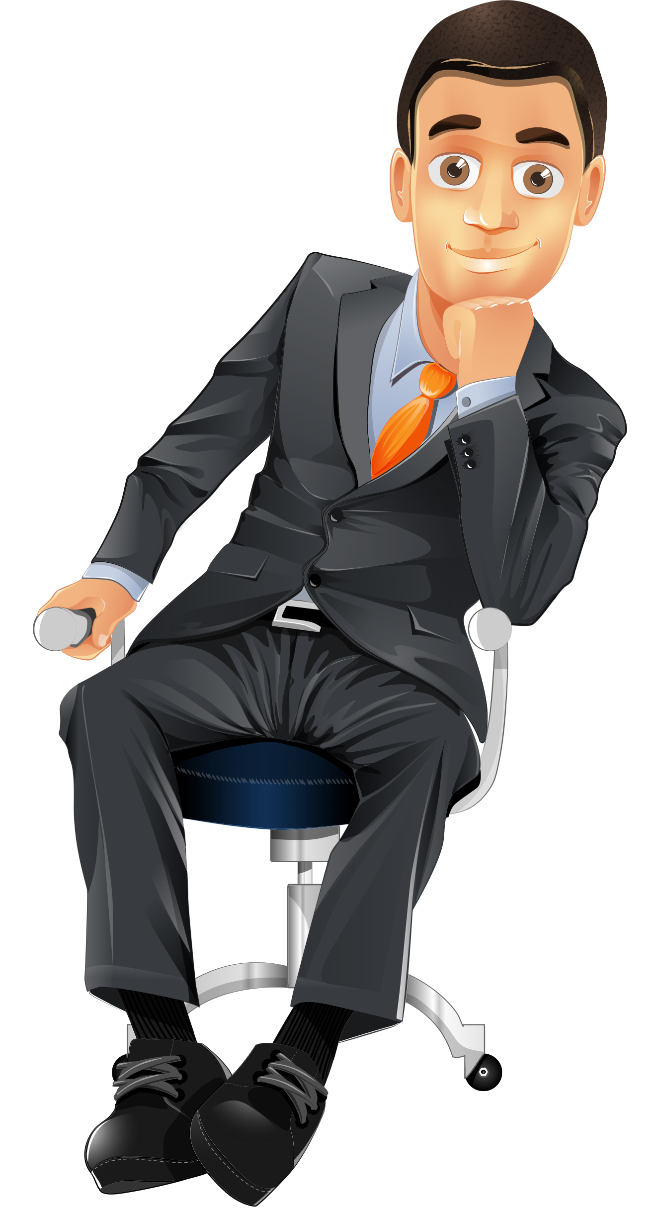 Sitting Man Png Image Person Drawing Business Man Man Sitting