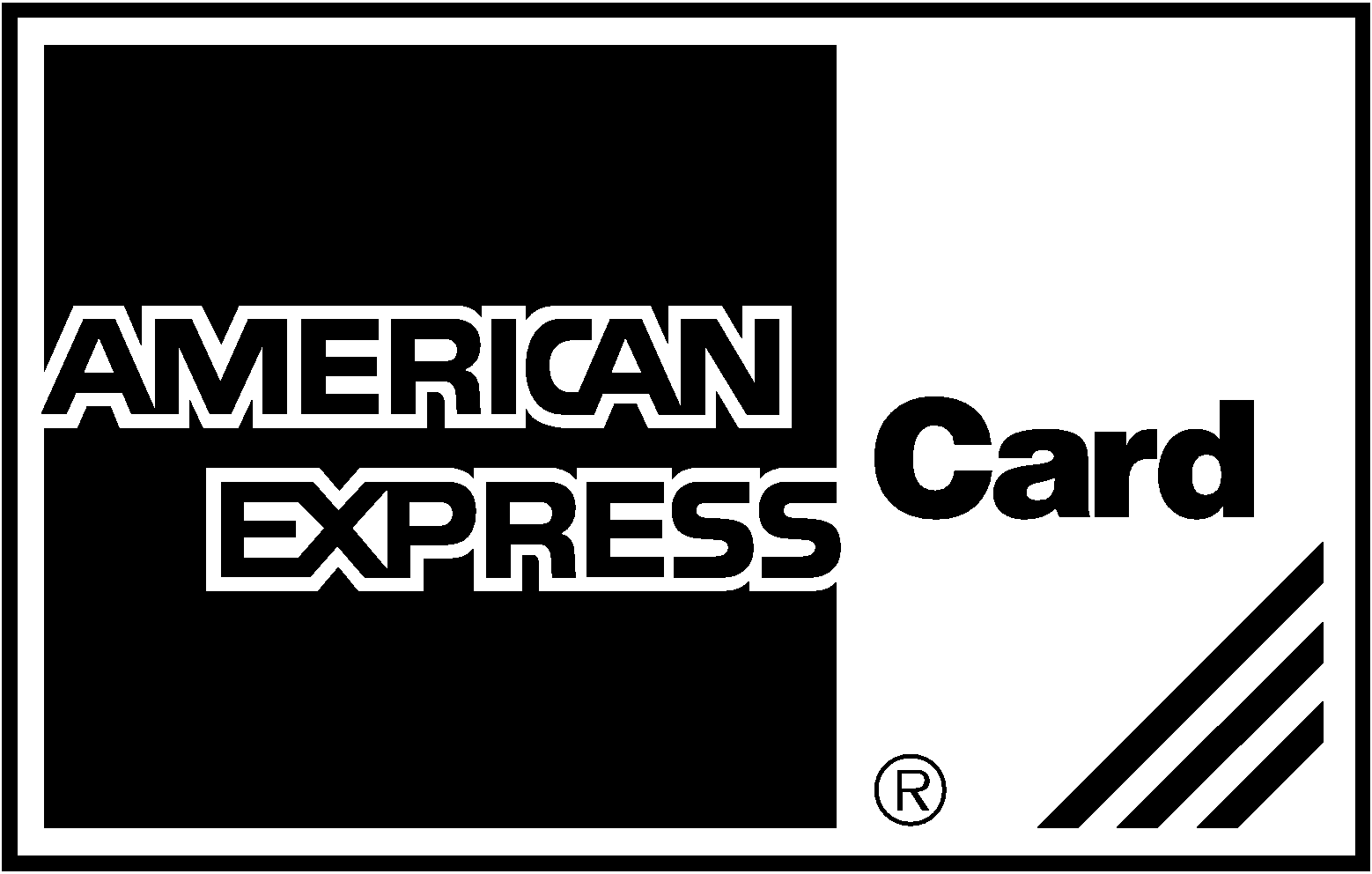 American Express Logo Black & White | American Express Card - Don\'t ...