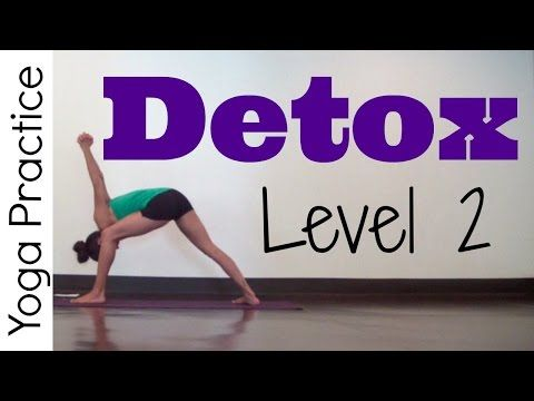 Yoga for Detox | Level 2 - on YouTube with Sara Beth. Felt sick halfway through, but markedly better by Birds of Paradise.