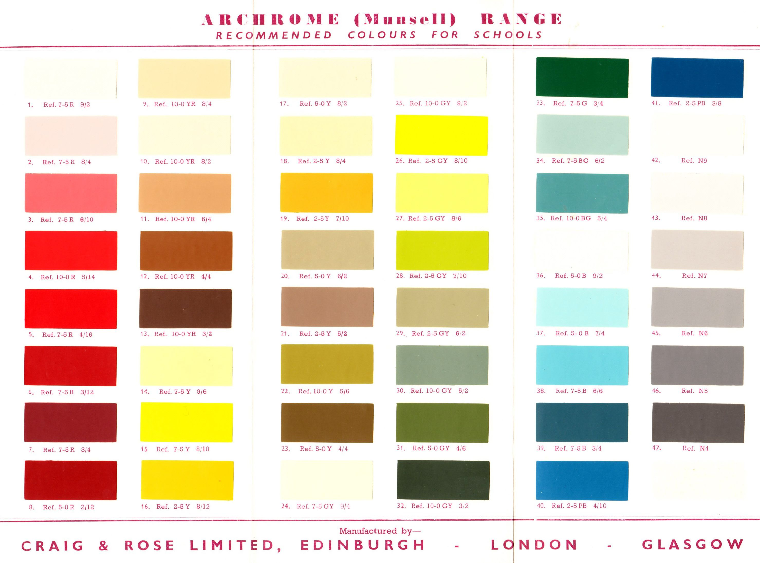 Ora color chart images chart design ideas archrome munsell colour range an account of this very colour me bad a selection of of geenschuldenfo Image collections