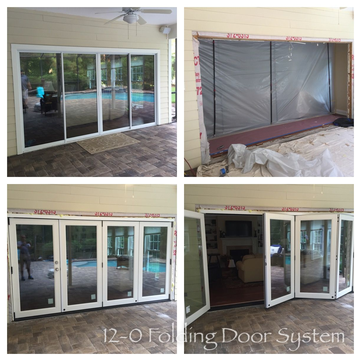 12 0 6 8 Exterior Unit With 4 Panel Foldingdoor System With Fiberglass Doors With Images Door Installation Folding Doors Doors