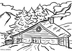 Paesaggio Di Montagna Disegno.Disegni Di Montagna Da Colorare Disegni