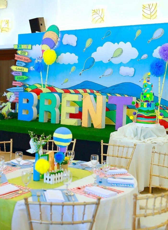 Oh The Places You Ll Go Dr Seuss Party Kara S Party Ideas Dr Seuss Birthday Party Dr Seuss Baby Shower Kindergarten Graduation Party