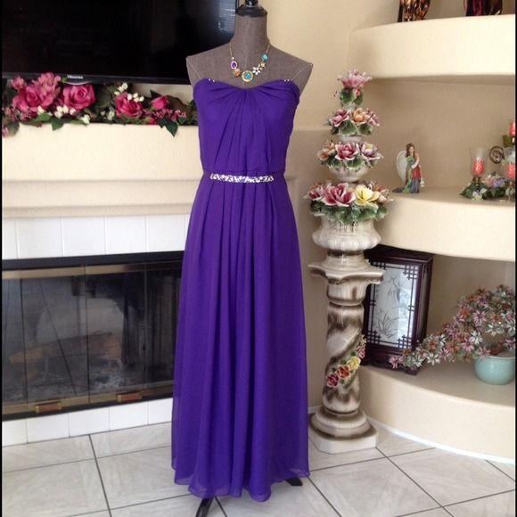 Selling this Elegant Deep Purple Gown - size 8 on Poshmark! My username is: serendipityrose. #shopmycloset #poshmark #fashion #shopping #style #forsale #none #Dresses & Skirts
