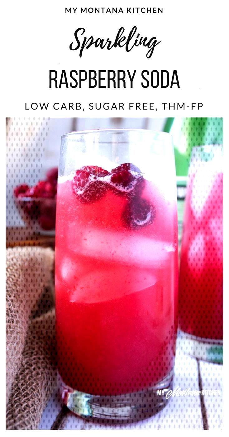 Sugar Free Sparkling Raspberry Soda | My Montana Kitchen Sparkling Raspberry Soda (Sugar Free, Low