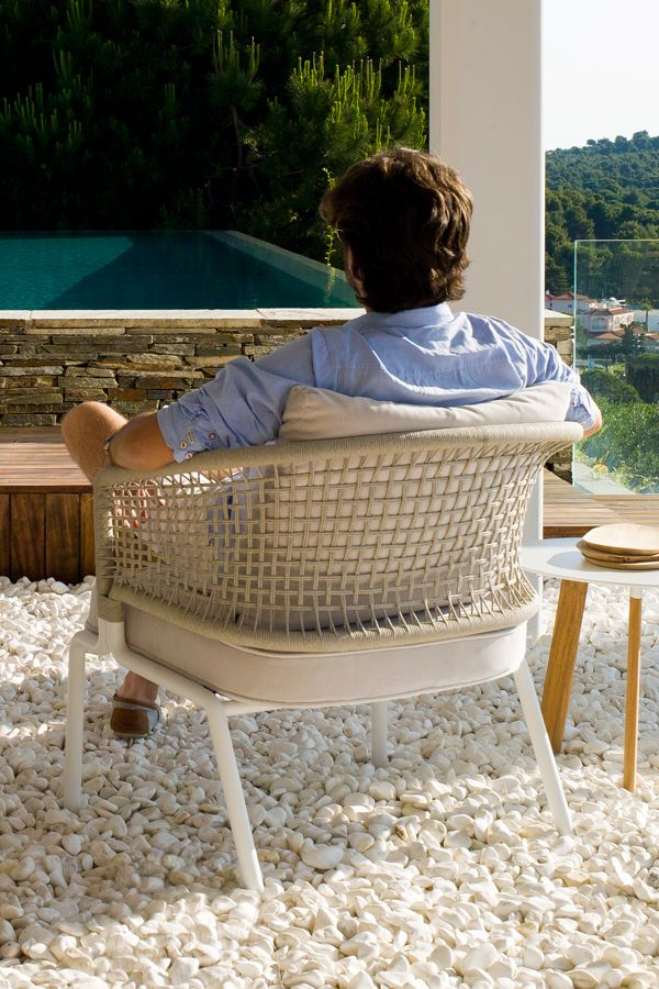 club chair CTR designed by Piergiorgio Cazzaniga for exclusive outdoor  furniture brand Tribù - Club Chair CTR Designed By Piergiorgio Cazzaniga For Exclusive