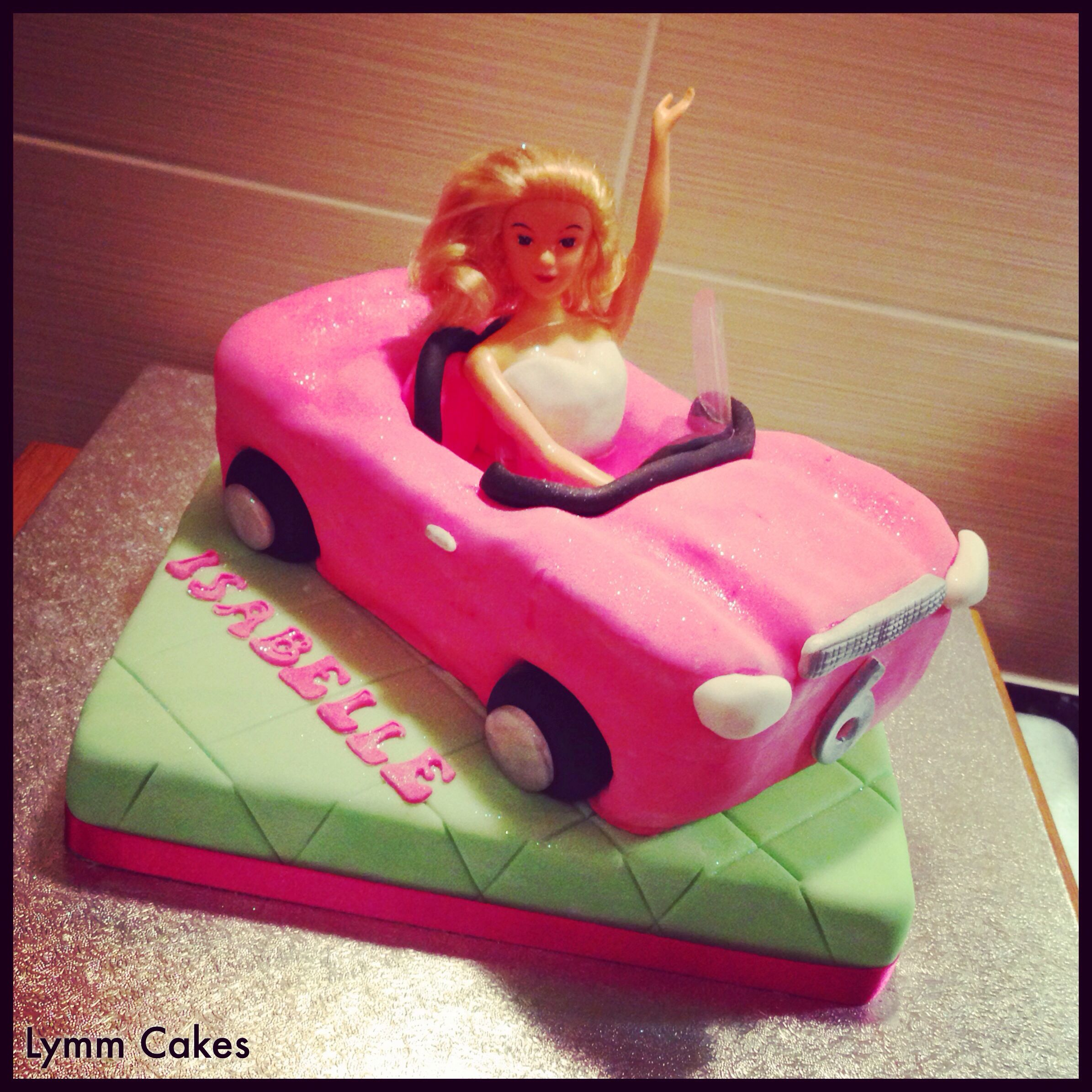 Barbie Style Car Cake Cakes Pinterest Cake Novelty Cakes And