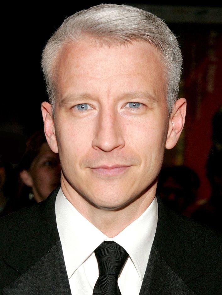 Anderson Cooper Grey Hair Men Grey Hair Grey Hair Celebrities