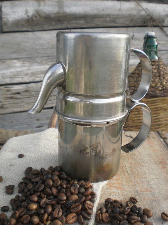 1960's genuine italian 'Neapolitan' coffee maker espresso, stove top espresso pot, coffee pot,