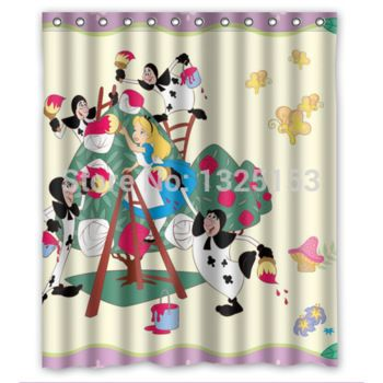Well Liked Alice In Wonderland Shower Curtain Good Quality Shower Curtain Alice In Wonderland Curtains