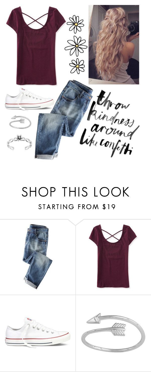 """""""Throw kindness around like confetti!"""" by epitomeofme ❤ liked on Polyvore featuring Wrap, Aéropostale and Converse"""