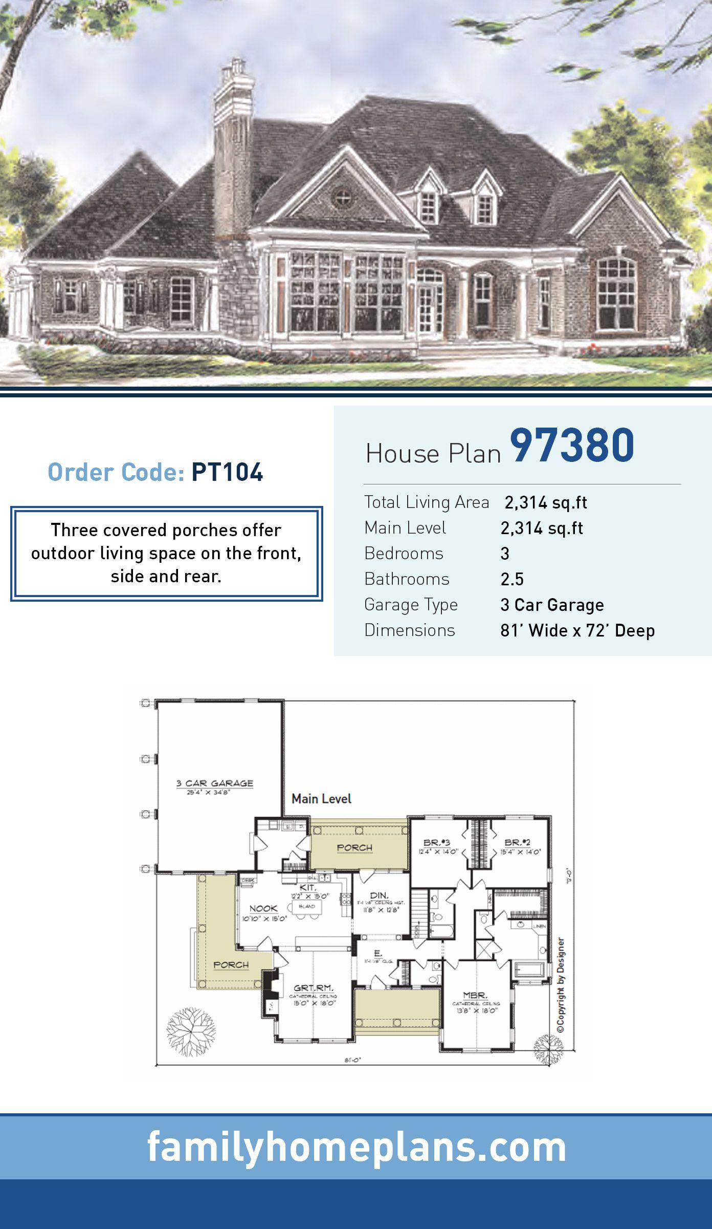 European house plan 97380 total living area 2 314 sq ft for Europeanhome com
