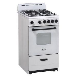 Avanti 20 4 Burner Free Standing Gas Range White Small Stove Gas Range Gas Cooker