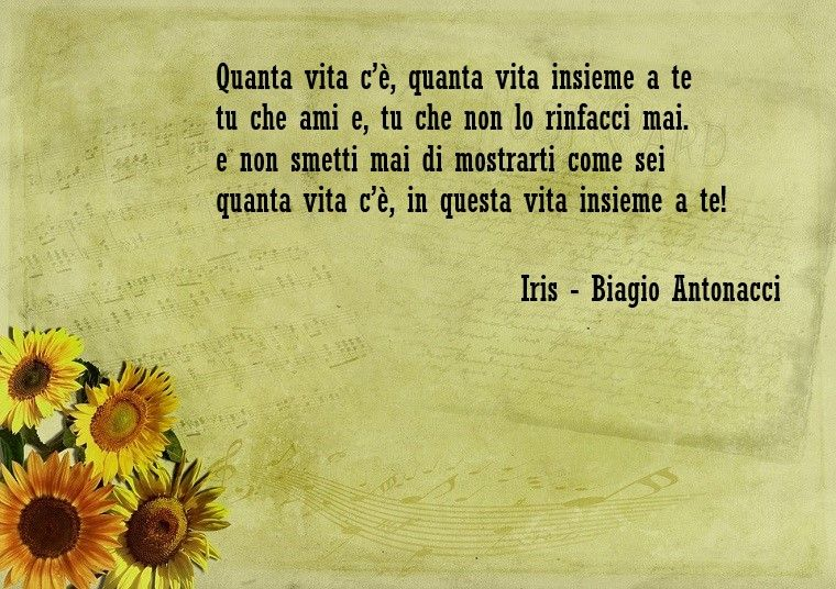 iris biagio antonacci