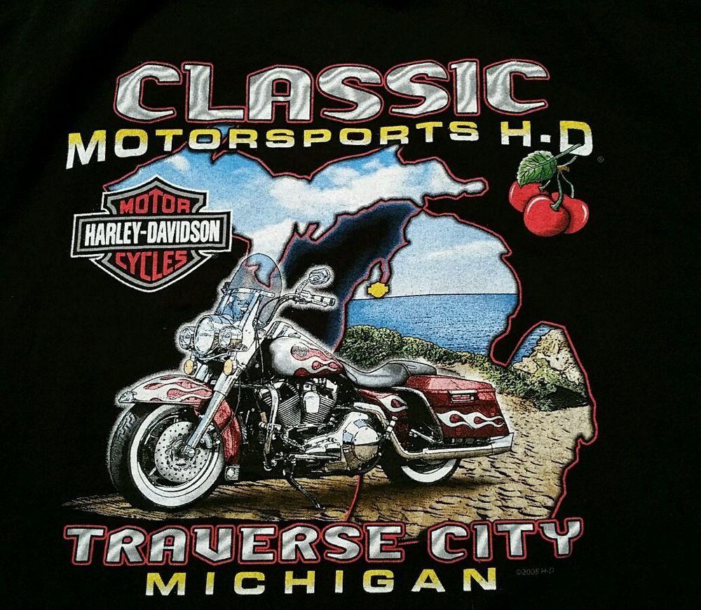 Harley Davidson Michigan >> Details About Harley Davidson Motorcycle T Shirt Xl Biker
