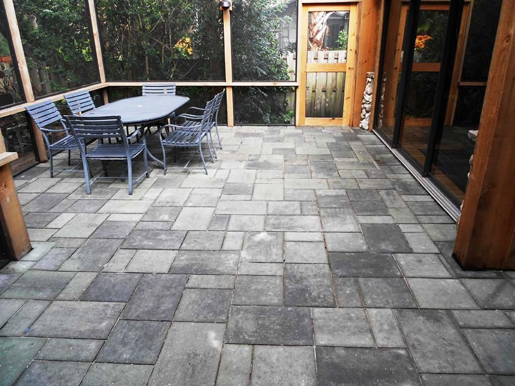 in x pewter concrete step