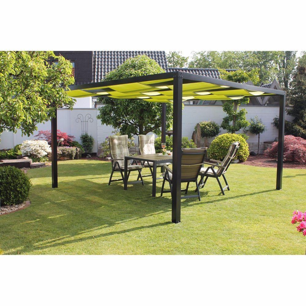 Metal Garden Gazebo Arbor Pergola Pavilion Roof Canopy Frame ...