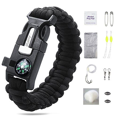 This Irainy Ultimate Paracord Survival Kit Bracelet Gives You All The Resources Need To Improvise In Any Situation So That Can Feel Safe By