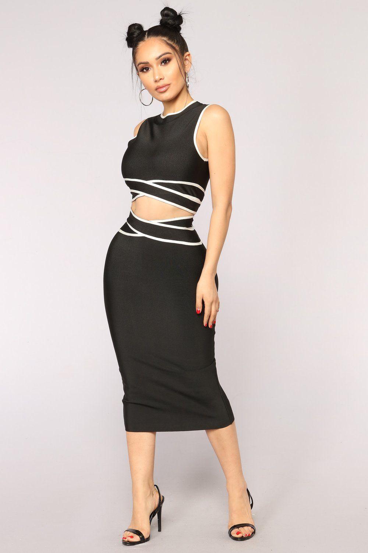 965f9314f24a Killing Me Softly Skirt Set - Black White Killing Me Softly