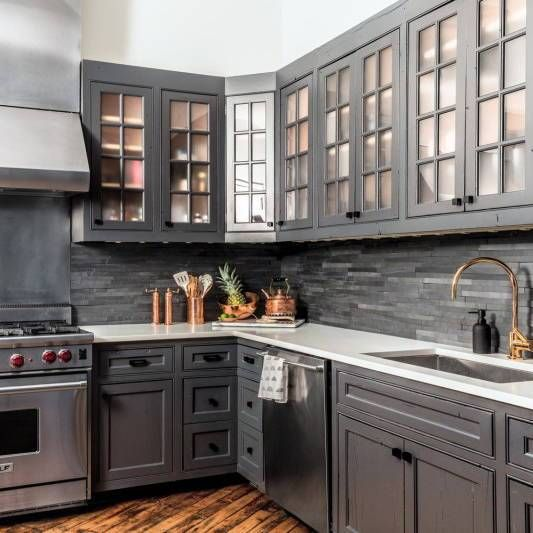 Charcoal Kitchen Cabinets | Get the look with Jolie Paint ...