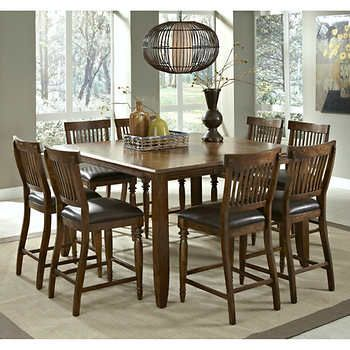 Arlington 9Piece Counterheight Dining Set  Dining Room Mesmerizing Dining Room Sets Costco Design Inspiration