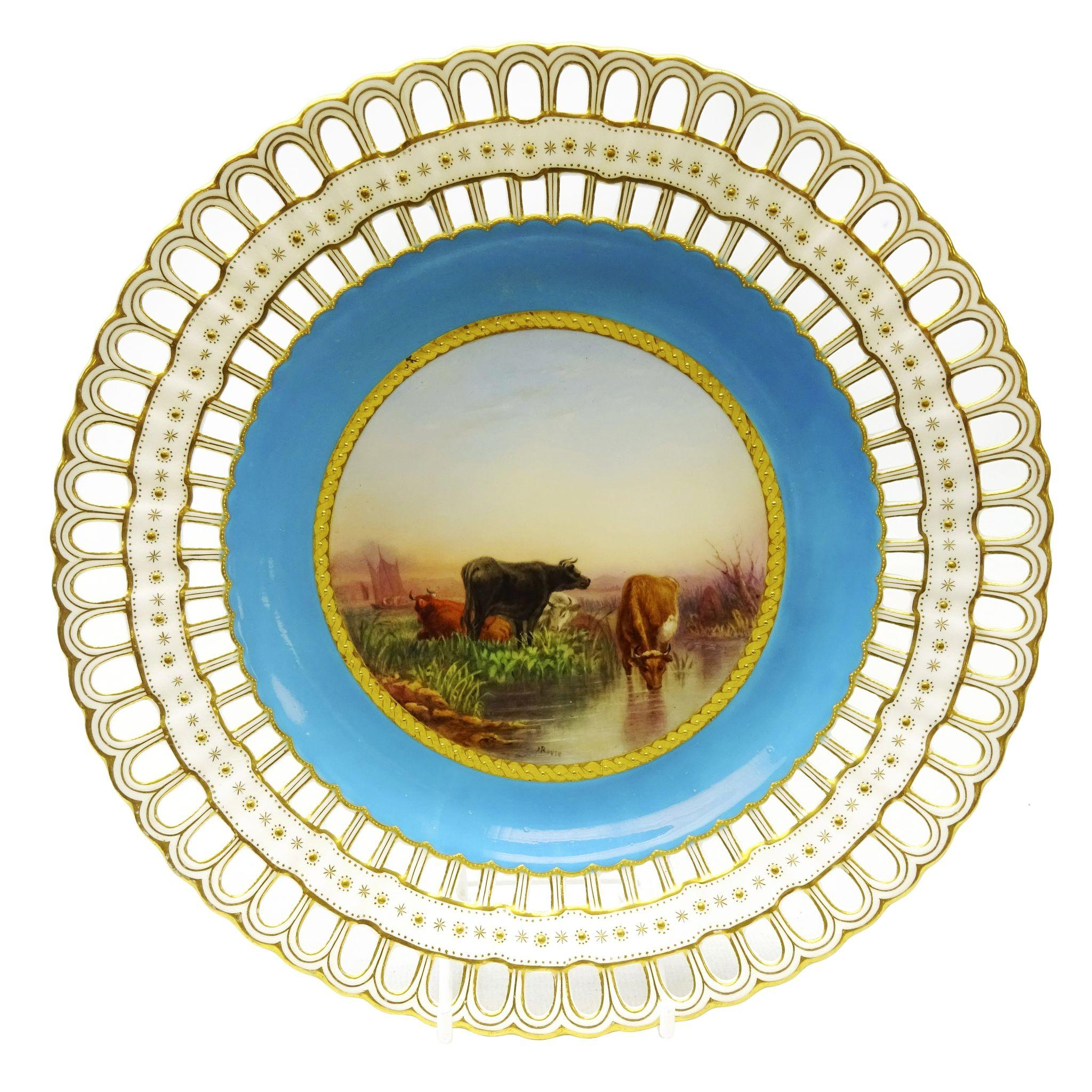 Victorian Minton Reticulated Plate Hand Painted