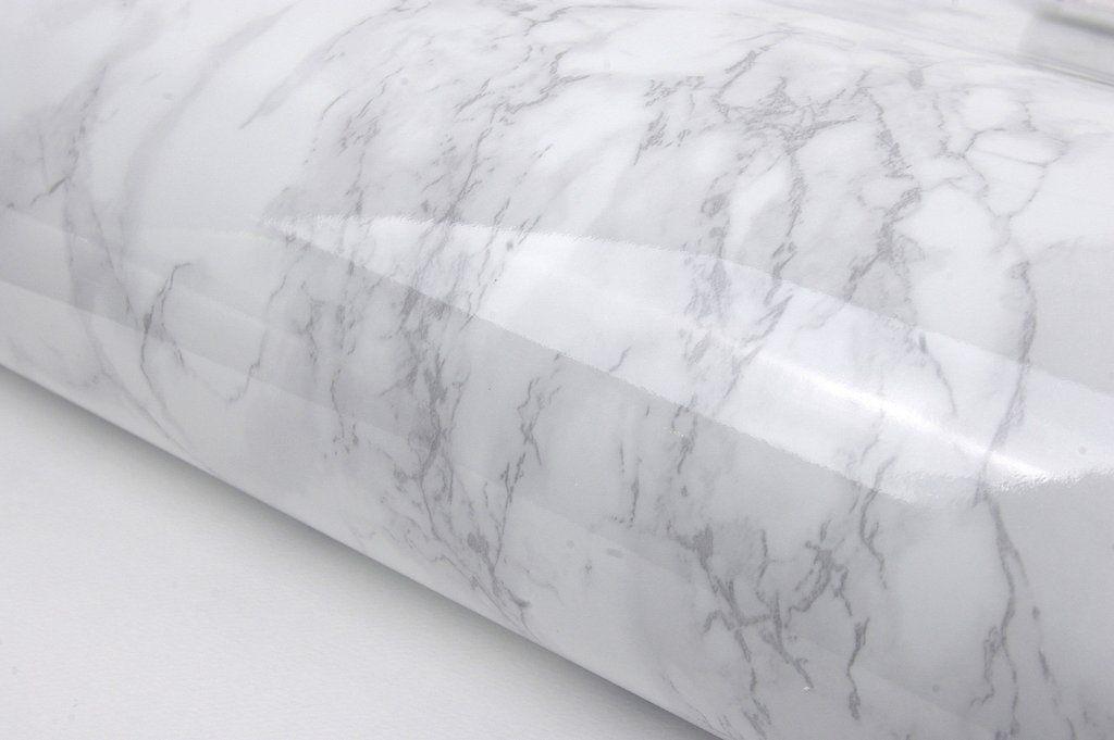 Grey White Marble Granite Look Effect Contact Paper Film Vinyl Self Adhesive Peel-stick Counter Top