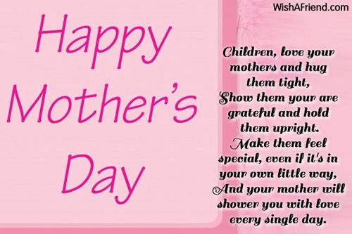 Mother S Day Poems Happy Mothers Day Poem Mothers Day Poems Happy Mother Day Quotes