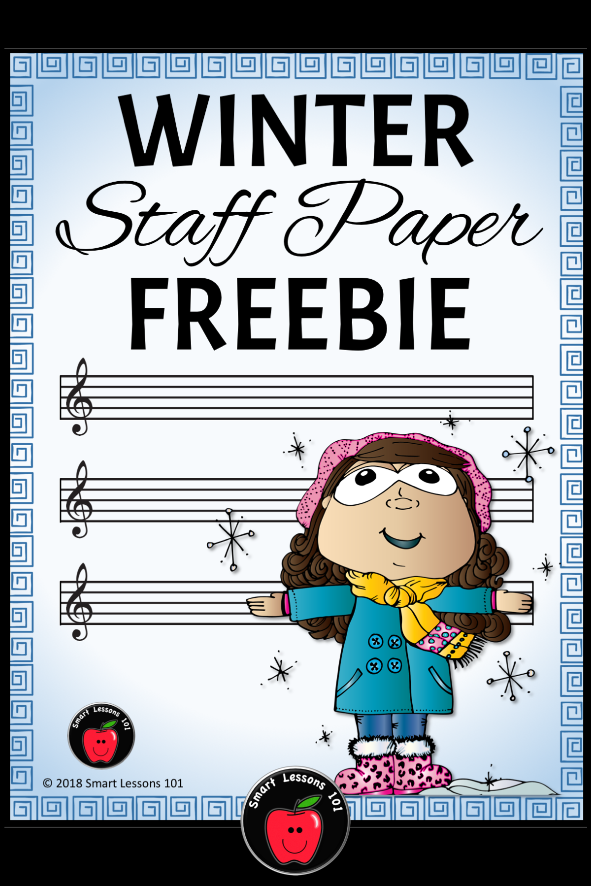 Winter Music Worksheets Winter Staff Paper Free Treble