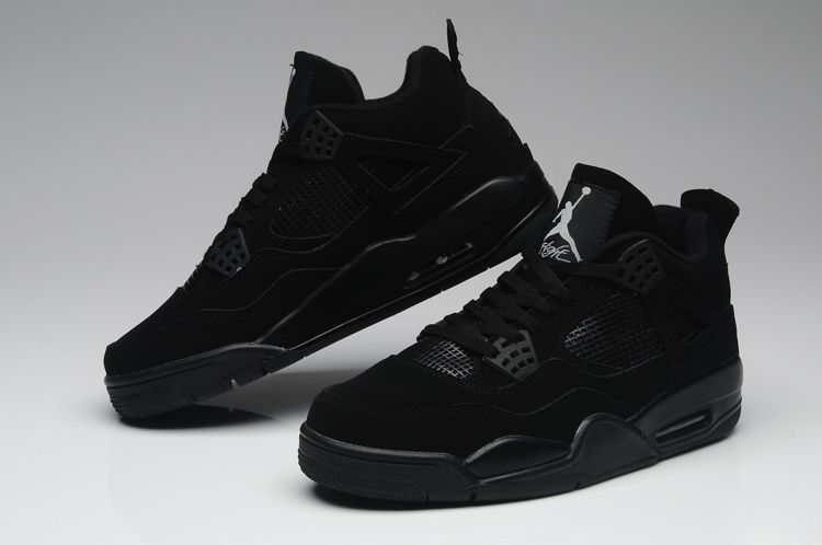 d43e34535b5a 2019 Jordan 4 PURE Black Men  S Basketball Shoes