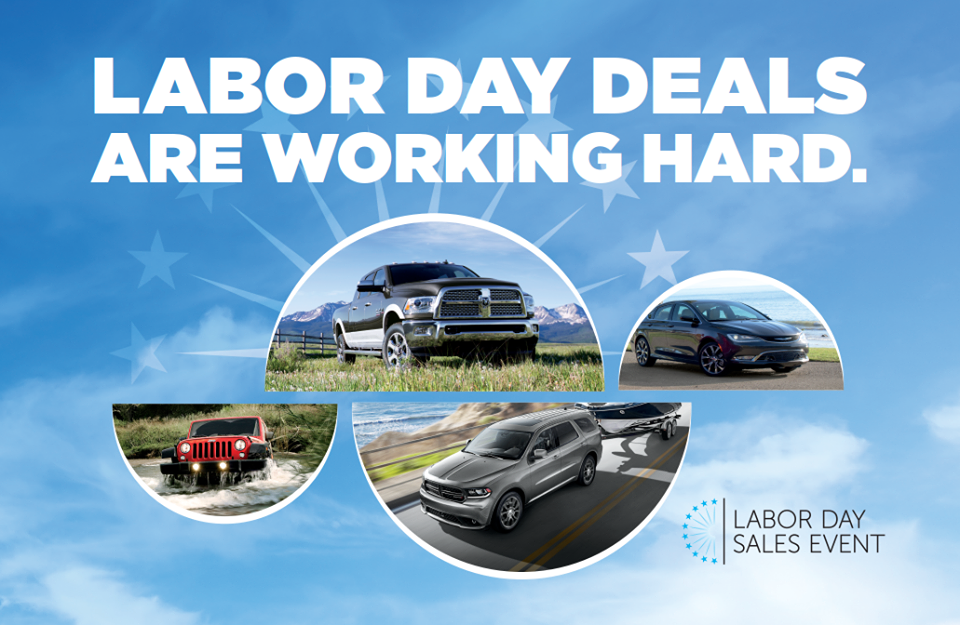 Labor Day Sales Event Happening Now At Lebanon Chrysler Dodge Jeep