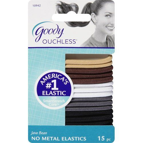 30 Count Goody Ouchless ties Cherry Blossom Colors Hair Elastics ties