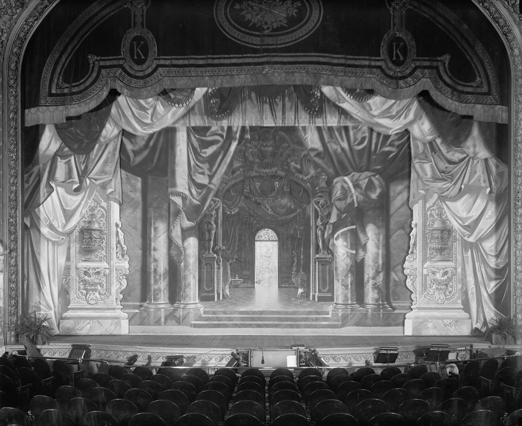 Vaudeville Stage Stage Ready For An Act In Two X Vaudeville
