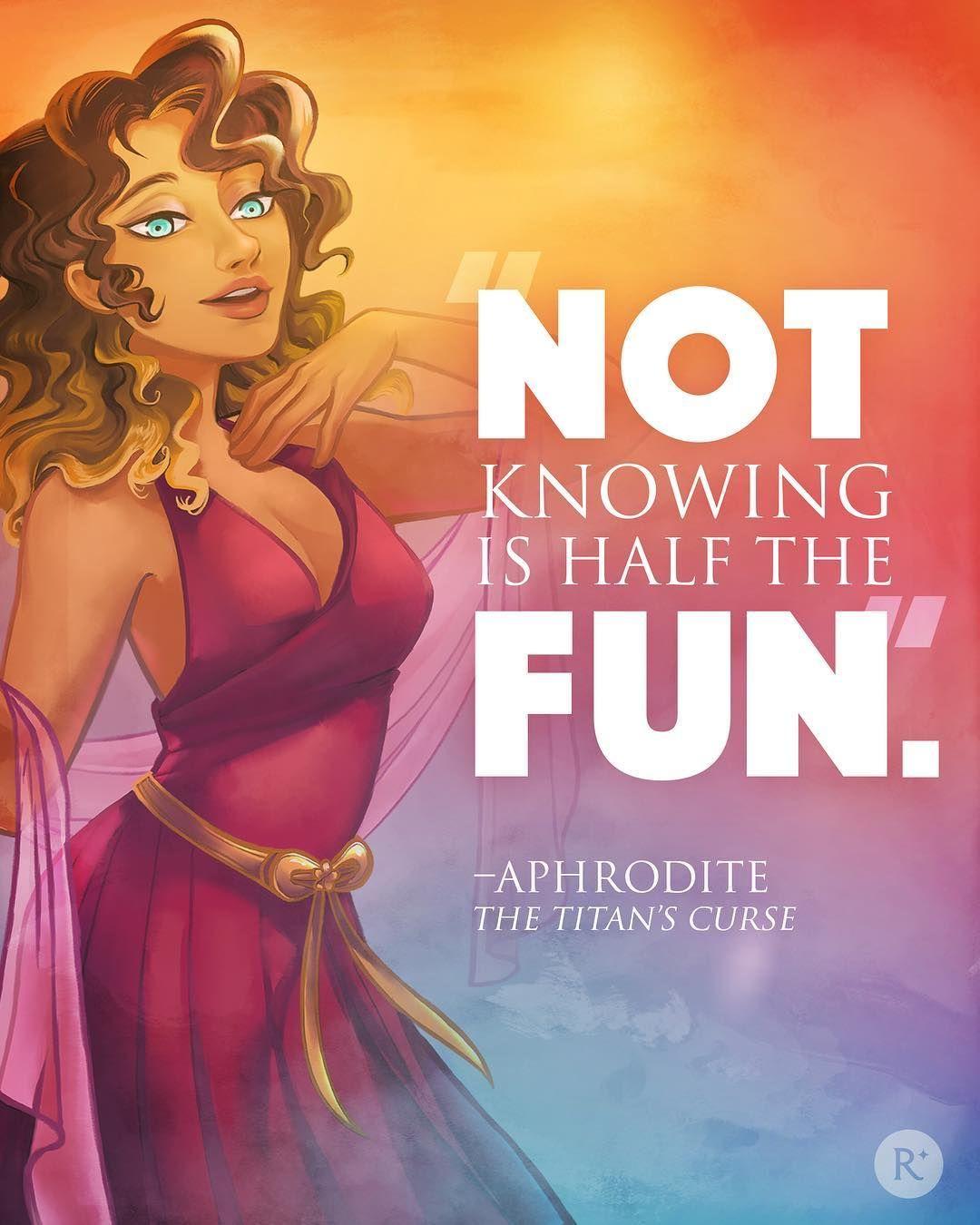 Aphrodite Quote The Titan S Curse Percy Jackson Quotes Percy Jackson Fandom Percy And Annabeth