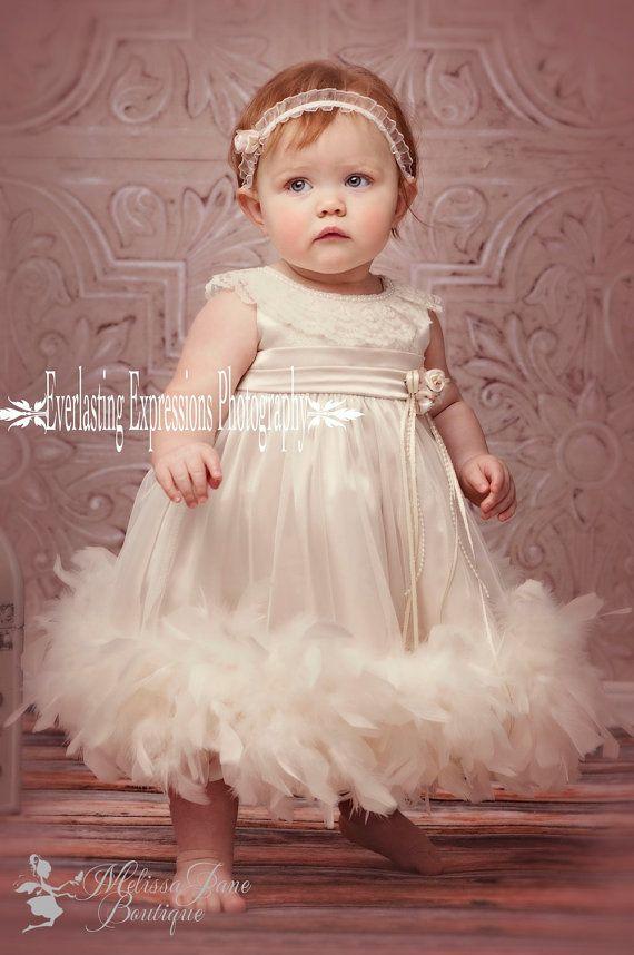 c27ecd8a Cute Baby Feather Dress | Classic Baby Looks | Vestidos bautismo, Vestidos  para bautizo, Ropa bebe