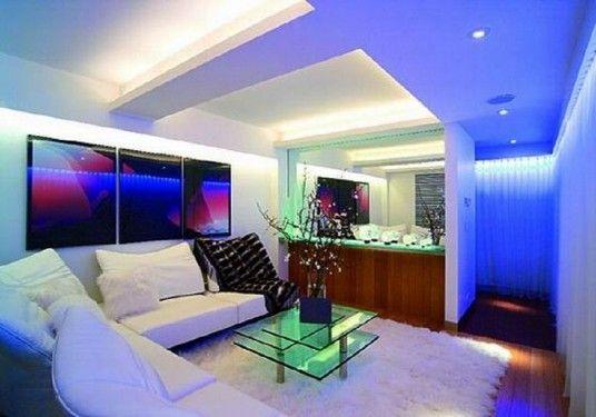 Led Light Home Interior Design Living Room Decor Inspiration Home Interior Design High Tech Living Room